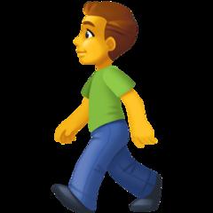 Pedestrian facebook emoji