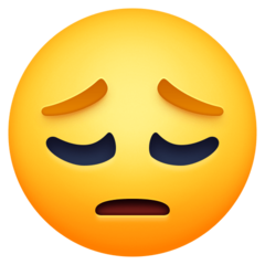 Pensive Face facebook emoji
