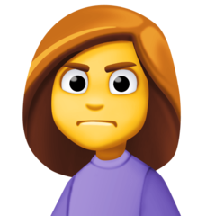 Person Frowning facebook emoji