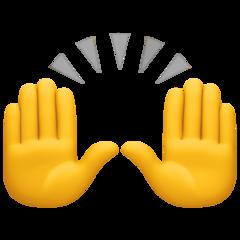 Person Raising Both Hands In Celebration facebook emoji
