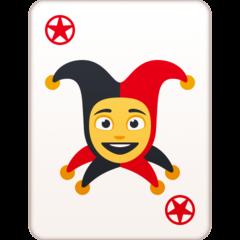Playing Card Black Joker facebook emoji