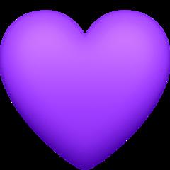 Purple Heart facebook emoji