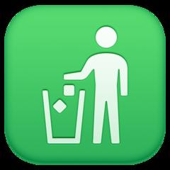 Put Litter In Its Place Symbol facebook emoji