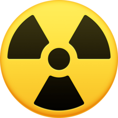 Radioactive Sign facebook emoji