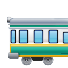 Railway Car facebook emoji