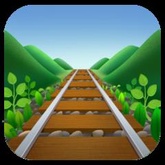 Railway Track facebook emoji