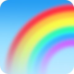 Rainbow facebook emoji