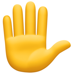 Raised Hand facebook emoji