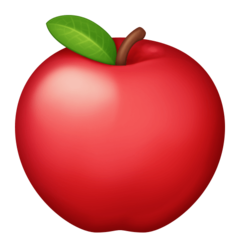 Red Apple facebook emoji