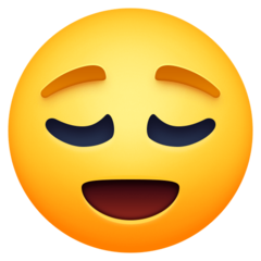 Relieved Face facebook emoji