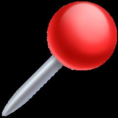 Round Pushpin facebook emoji
