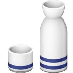 Sake Bottle And Cup facebook emoji