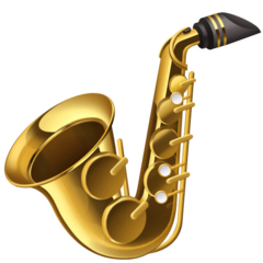 Saxophone facebook emoji