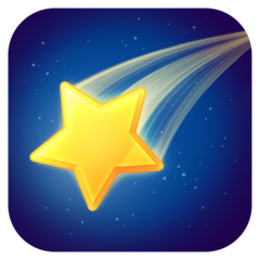 Shooting Star facebook emoji