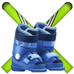 Ski And Ski Boot facebook emoji