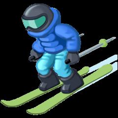 Skier facebook emoji