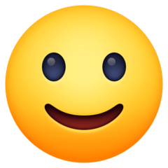 Slightly Smiling Face facebook emoji