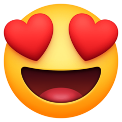 Smiling Face With Heart-shaped Eyes facebook emoji