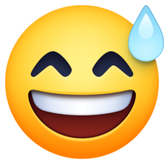Smiling Face With Open Mouth And Cold Sweat facebook emoji