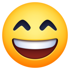Smiling Face With Open Mouth And Smiling Eyes facebook emoji