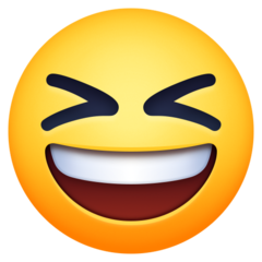Smiling Face With Open Mouth And Tightly-closed Eyes facebook emoji