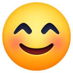 Smiling Face With Smiling Eyes facebook emoji