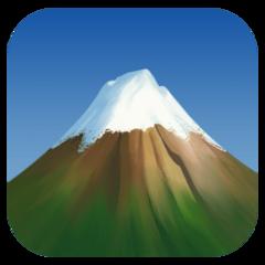 Snow Capped Mountain facebook emoji