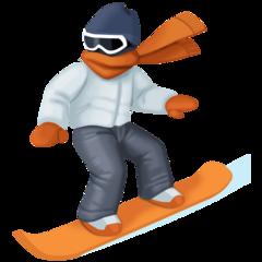 Snowboarder facebook emoji