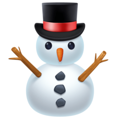 Snowman Without Snow facebook emoji