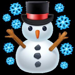 Snowman facebook emoji