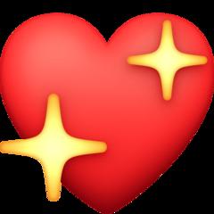 Sparkling Heart facebook emoji