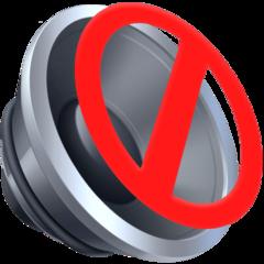 Speaker With Cancellation Stroke facebook emoji