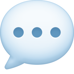 Speech Balloon facebook emoji