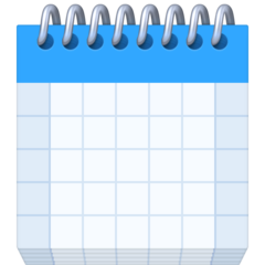 Spiral Calendar Pad facebook emoji