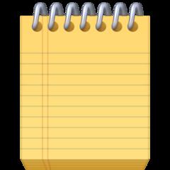 Spiral Note Pad facebook emoji