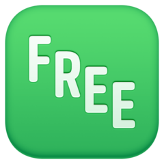 Squared Free facebook emoji