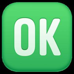 Squared Ok facebook emoji