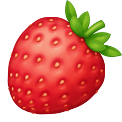 Strawberry facebook emoji