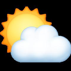 Sun Behind Cloud facebook emoji