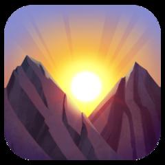 Sunrise Over Mountains facebook emoji