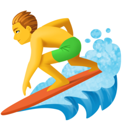 Surfer facebook emoji