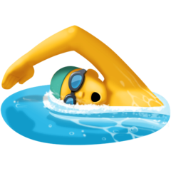 Swimmer facebook emoji