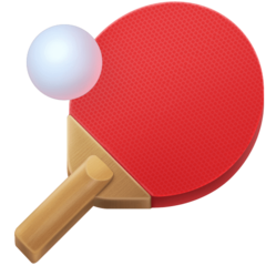 Table Tennis Paddle And Ball facebook emoji