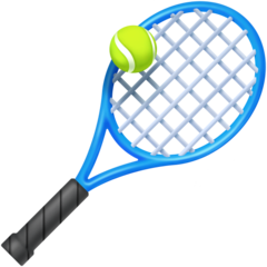 Tennis Racquet And Ball facebook emoji