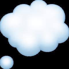 Thought Balloon facebook emoji
