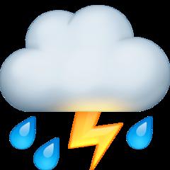 Thunder Cloud And Rain facebook emoji