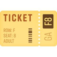Ticket facebook emoji