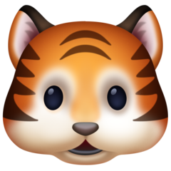 Tiger Face facebook emoji