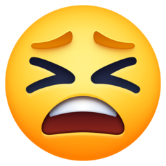 Tired Face facebook emoji