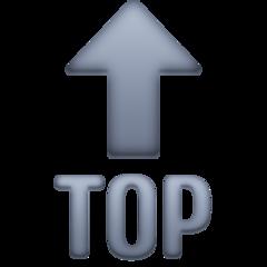 Top With Upwards Arrow Above facebook emoji